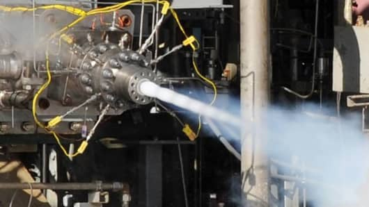 Aerojet Rocketdyne conducted hot-fire testing of a multi-element pre-burner injector for the AR1 rocket engine.