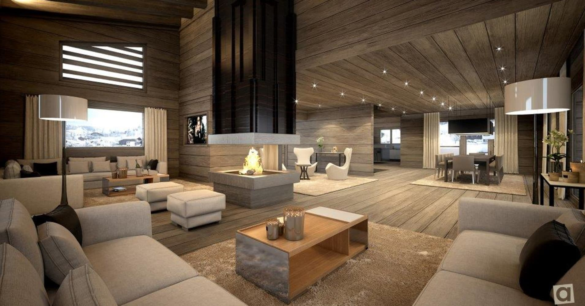 the coolest ski chalets on the market. Black Bedroom Furniture Sets. Home Design Ideas