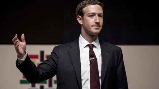 Mark Zuckerberg, chief executive officer of Facebook.