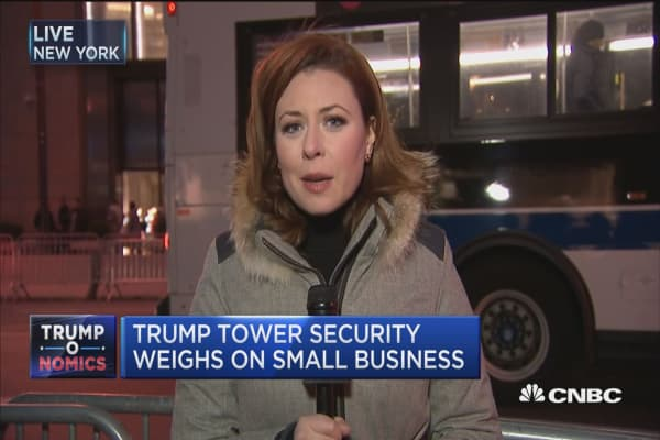 Trump Tower security weighs on small business