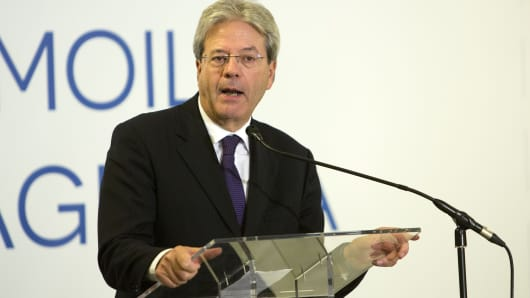 Italian Foreign Minister and Prime Minister Designate Paolo Gentiloni.