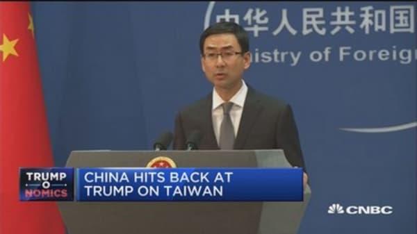 China hits back at Trump on Taiwan