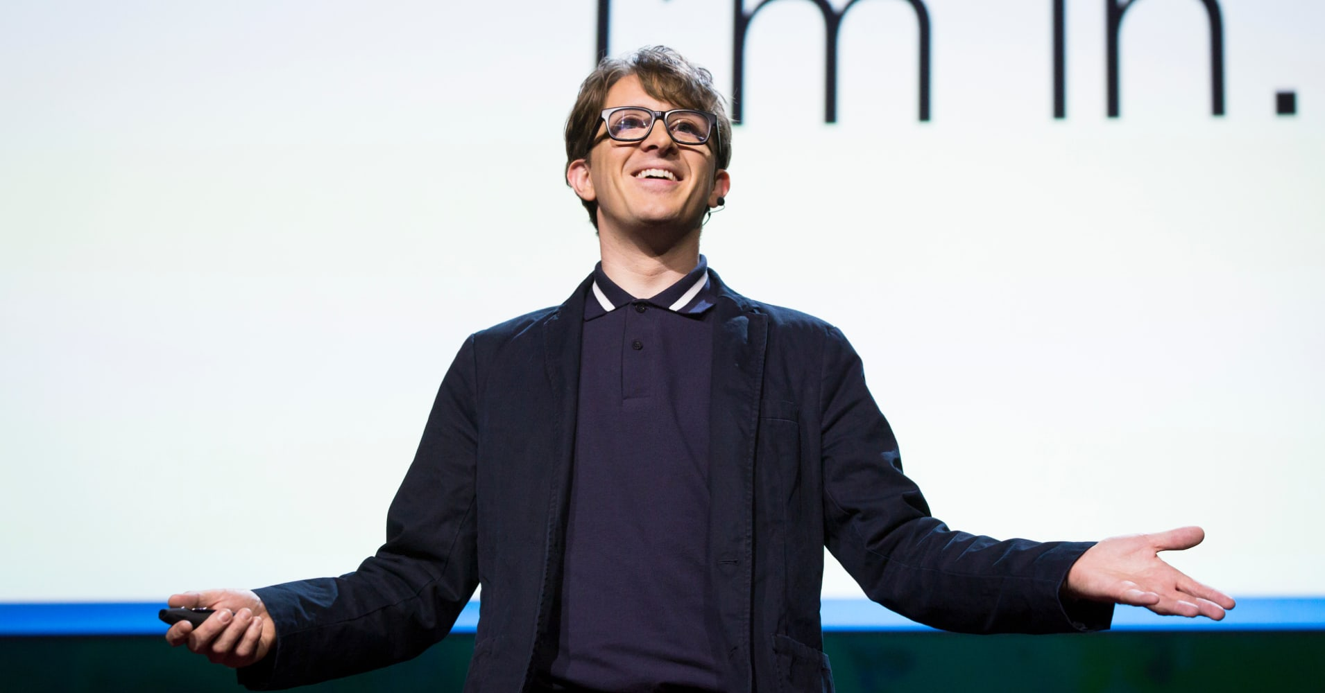 James Veitch at TEDSummit2016 in Banff, Canada.