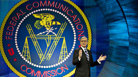 Thomas 'Tom' Wheeler, chairman of the U.S. Federal Communications Commission (FCC), speaks at INTX: The Internet & Television Expo in Chicago, Illinois, U.S., on Wednesday, May 6, 2015.