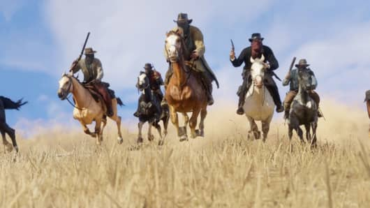"An image from ""Red Dead Redemption 2"" by Rockstar Games"