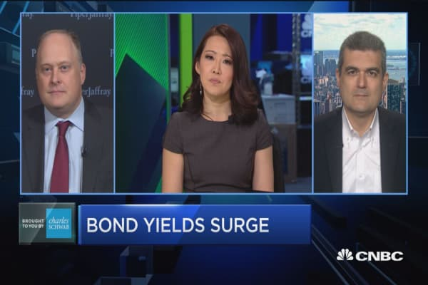 Trading Nation: Could rising yields hit stocks?