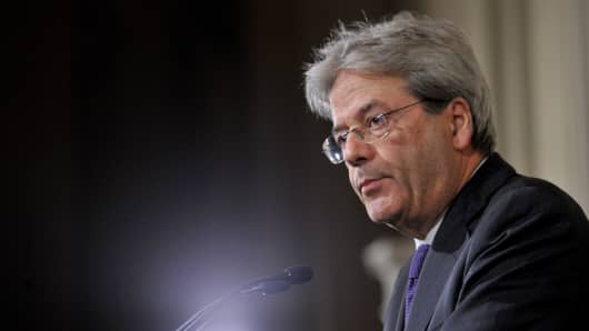 Image result for Italian Prime Minister Paolo Gentiloni, photos