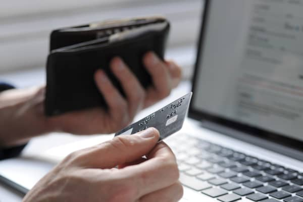 Online shopping with credit card