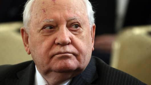 Former Soviet President Mikhail Gorbachev.