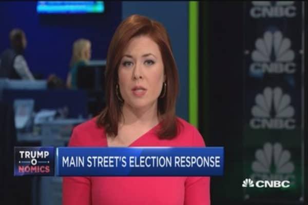 Main Street's optimistic election response