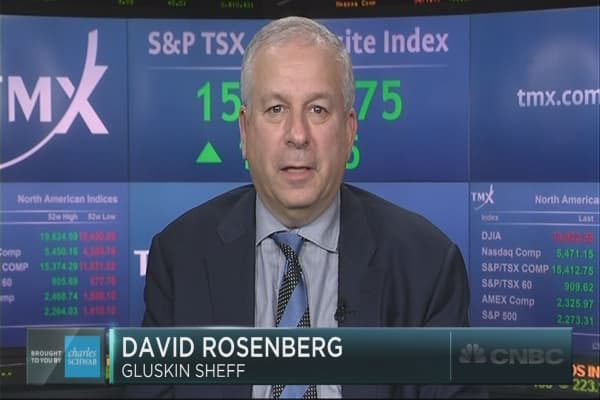David Rosenberg's market worries