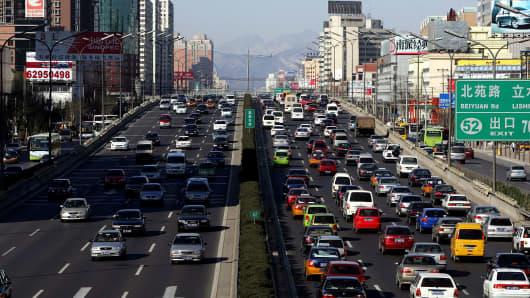 Vehicles in Beijing, China.