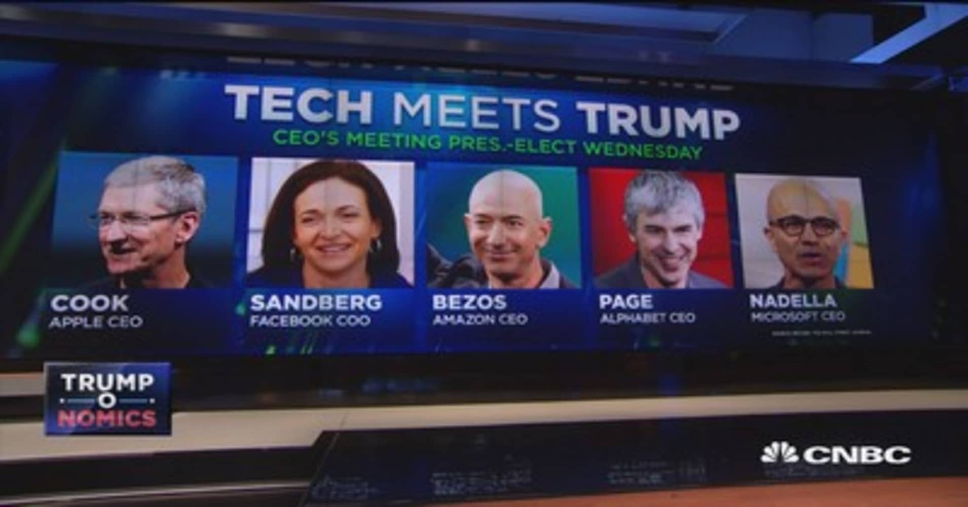 Tech titans gather at Trump Tower