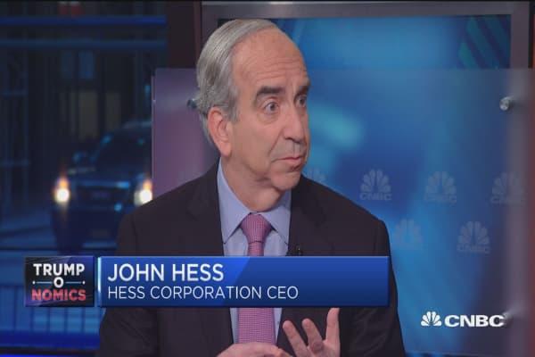 John Hess:Tillerson does his homework