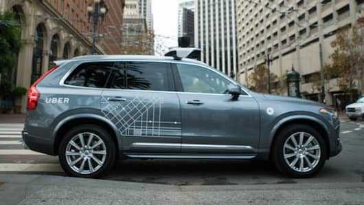 Catch a ride in a self-driving Uber.