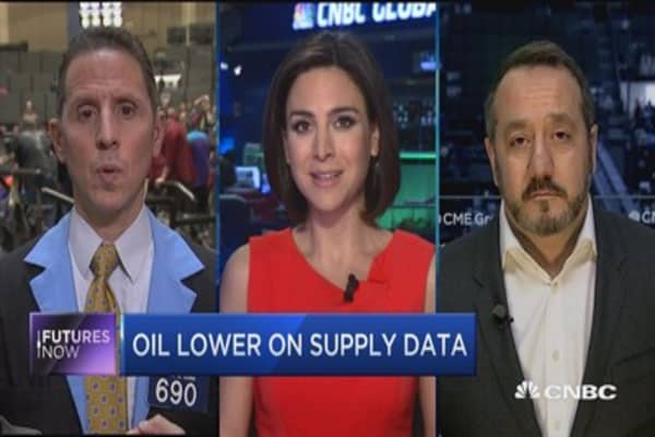 Futures Now: Oil lower on supply data