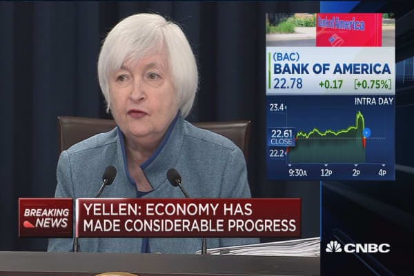 Yellen: Gradual hikes sufficent to get to neutral stance in next few years
