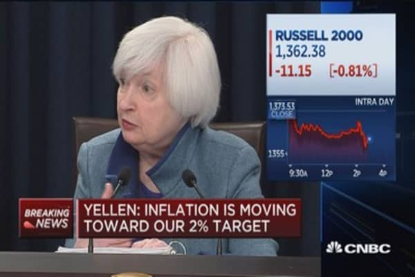 Yellen: Fed is not behind the curve
