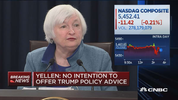 Yellen: I intend to serve out my 4-year term