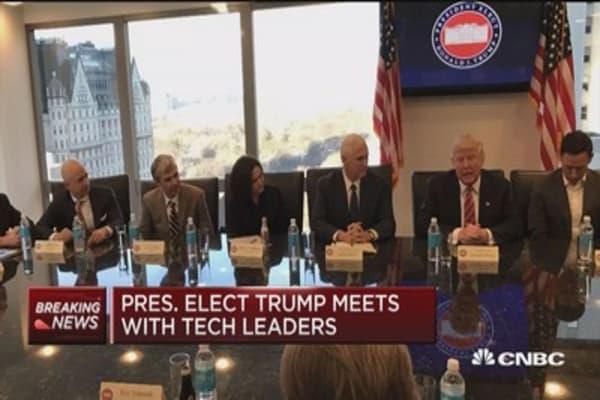 Trump's tech summit topics: Jobs, immigration & China