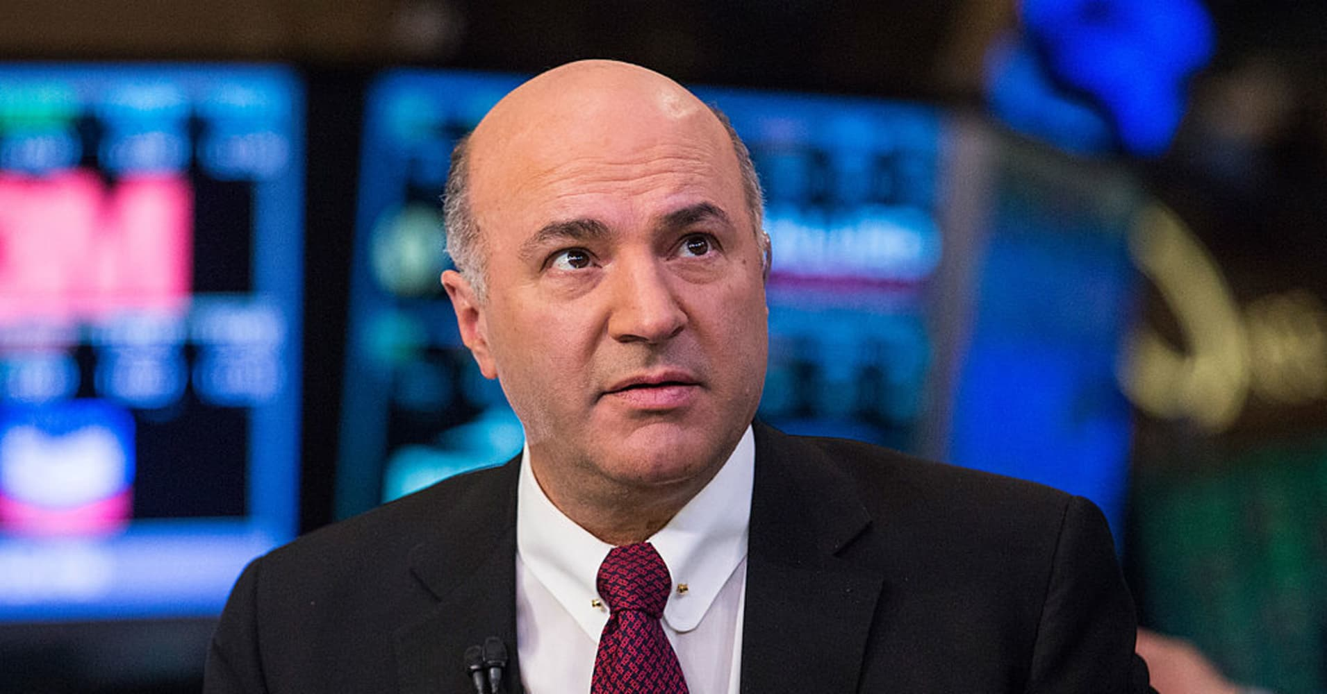 Kevin O'Leary, an investor on the television show 'Shark Tank' is seen on the floor of the New York Stock Exchange on the afternoon of March 4, 2014 in New York City.