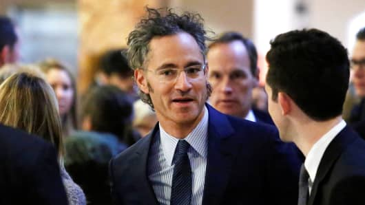 Palantir Technologies CEO Alex Karp enters Trump Tower ahead of a meeting of technology leaders with President-elect Donald Trump in New York, December 14, 2016.