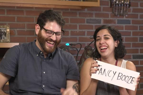 "Jaya and Matt, contestants on Make It's ""Love Bank"""