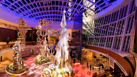The Conservatory at MGM National Harbor features extravagant, seasonal floral displays.