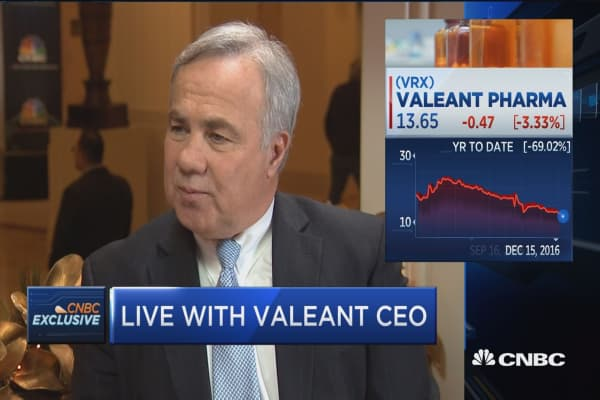 Valeant CEO: Our policy will keep single-digit pricing