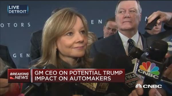 GM CEO: We will work constructively with Trump