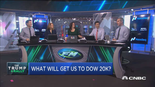 What will get us to Dow 20K?