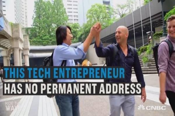 This tech CEO has no permanent address