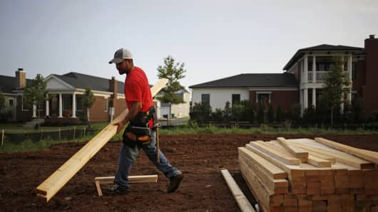 Homebuilder shares plunge after JP Morgan says housing recovery will be 'tepid,' downgrading 5 stocks in sector
