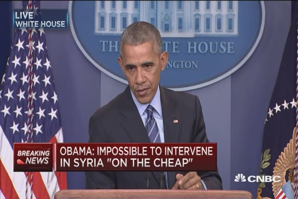 Obama: Cannot claim we've been successful in Syria
