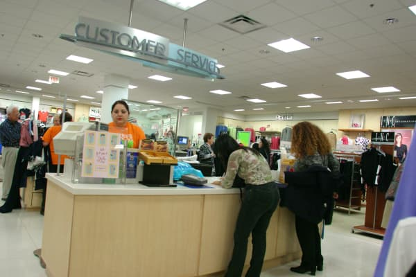 Department Store Customer Service Desk.