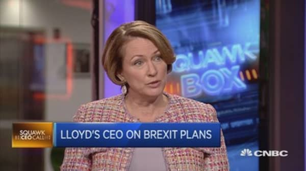 Brexit would impact 5% of revenues: Lloyd's CEO