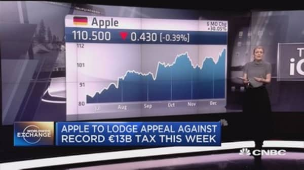 Apple to lodge appeal against record €13B tax