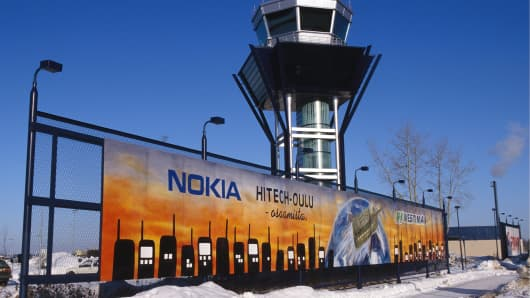 Nokia Ad at Oulu Airport in Finland.