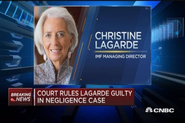Court rules Lagarde guilty