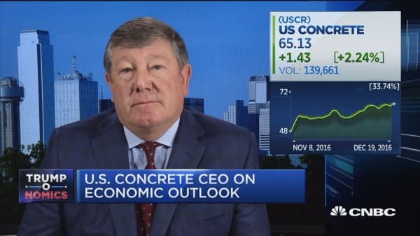 US Concrete CEO: Very optimistic on infrastructure funding
