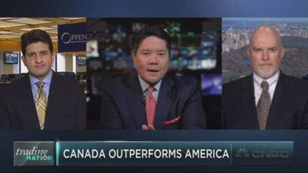 Canadian stocks crush U.S. equities
