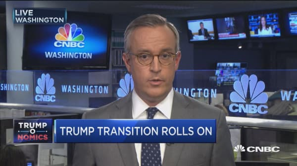 Trump transition rolls on