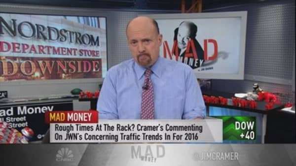 Cramer chronicles the decline of department stores, and how Nordstrom is 'cannibalizing itself'