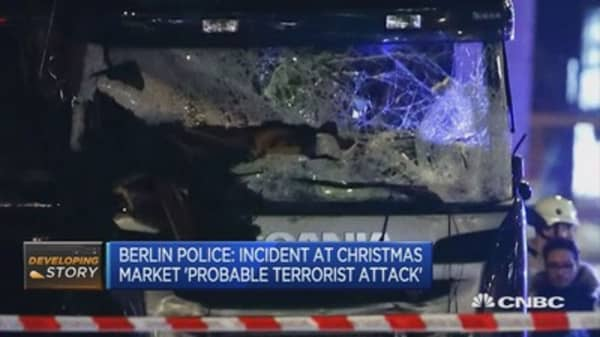 Berlin police: Assume truck was driven into market on purpose