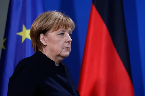 German Chancellor Angela Merkel arrives for a news conference in Berlin, Germany, December 20, 2016, one day after a truck ploughed into a crowded Christmas market in the German capital.