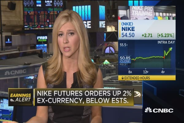 Nike shares jump on earnings beat