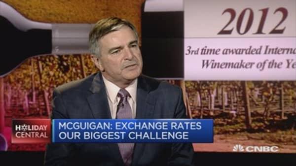Exchange rates are our biggest challenge: McGuigan