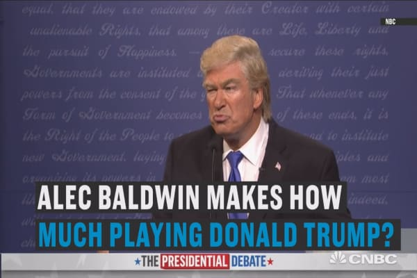 Alec Baldwin gets paid how much to play Trump?