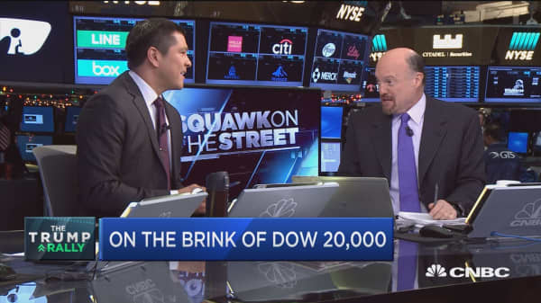 Don't expect Dow 20K to happen on Wednesday, Cramer says