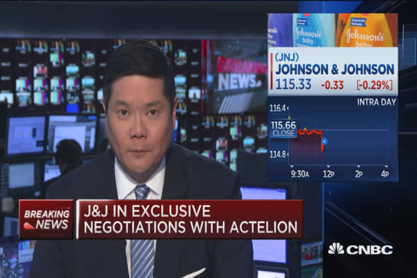 J&J in exclusive negotiations with Actelion
